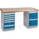"Pre-designed Workbenches - Capacity: 2500 lbs. - Configuration: Door & Drawers - Height: 34"" - Width: 60"""