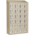 All-Welded Concord™ Heavy-Duty Lockers - Bank of 4 - Colour: Beige