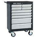 "Roller Cabinet - 9 Drawers - Overall Depth: 18"" - Overall Width: 26-1/2"""