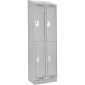 Assembled Clean Line™ Economy Lockers w/Slope Top & Recessed Base - No. of Tiers: 2 - Bank of: 2 - Ships Free