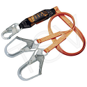 Titan™ Shock-Absorbing Lanyards - No. of Legs: 2 - Shock-Absorber Type: Pack-Type - Anchorage Connection: Rebar Hook