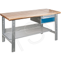 """Pre-designed Workbenches - Capacity: 2500 lbs. - Configuration: Drawers/Shelf - Height: 34"""" - Width: 60"""""""