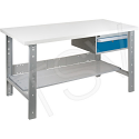 """Pre-designed Workbench - Capacity: 2500 lbs. - Configuration: Drawers/Shelf - Height: 34"""" - Width: 60"""""""