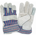 Better Quality Split Cowhide Patch Palm Fitters Gloves, Striped Cuff - Size: X-Large  - Case Quantity: 72