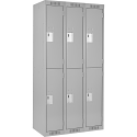 Assembled Clean Line™ Economy Lockers - Basic Style - No. of Tiers: 2 - Bank of: 3 - Ships Free
