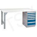 """Pre-designed Workbench - Capacity: 2500 lbs. - Configuration: Drawers - Height: 34"""" - Width: 60"""""""