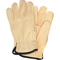 Grain Cowhide Drivers Fleece Lined Gloves - Size: Medium - Case Quantity: 24