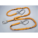 Titan™ Shock-Absorbing Lanyards - No. of Legs: 2 - Shock-Absorber Type: Tubular Built-In Core - Anchorage Connection: Rebar Hooks