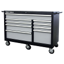 "Roller Cabinet - 9 Drawers - Overall Depth: 24"" - Overall Width: 53"""