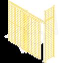 Heavy-Duty Sliding Door - Height: 8' - Width: 4' - Colour: Yellow