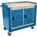 """Industrial Duty Mobile Service Benches - O.D.: 42""""W x 24""""D x 37""""H - Configuration: 2 Doors"""
