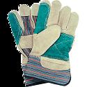 Premium Quality Double Palm Split Cowhide Fitters Glove - Size: Large - Outside Double Palm & Index Finger - Case Quantity: 72