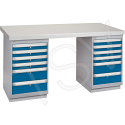 "Pre-designed Workbench - Capacity: 2500 lbs. - Configuration: Dual Drawers - Height: 34"" - Width: 60"""