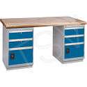 """Pre-designed Workbenches - Capacity: 2500 lbs. - Configuration: Dual Drawers - Height: 34"""" - Width: 60"""""""