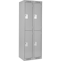 Assembled Clean Line™ Economy Lockers - Basic Style - No. of Tiers: 2 - Bank of: 2 - Ships Free