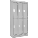 Assembled Clean Line™ Economy Lockers w/Slope Top & Recessed Base - No. of Tiers: 2 - Bank of: 3 - Ships Free