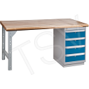 """Pre-designed Workbenches - Capacity: 2500 lbs. - Configuration: Drawers - Height: 34"""" - Width: 60"""""""