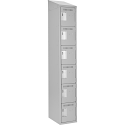 Assembled Lockerette Clean Line™ Economy Lockers - w/Slope Top - No. of Tiers: 6 - Bank of: 1 - Ships Free
