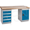 """Pre-designed Workbenches - Capacity: 2500 lbs. - Configuration: Door & Drawers - Height: 34"""" - Width: 60"""""""