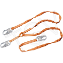 Titan™ Shock-Absorbing Lanyards - No. of Legs: 2 - Shock-Absorber Type: Tubular Built-In Core - Anchorage Connection: Snap Hooks