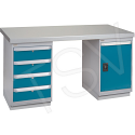 """Pre-designed Workbenches - Configuration: Door & Drawers - Height: 34"""" - Width: 60"""""""