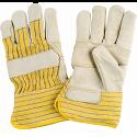 Grain Cowhide Fitters Cotton Fleece Lined Patch Palm Gloves - Size: X-Large - Case Quantity: 24