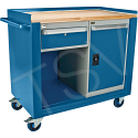 """Industrial Duty Mobile Service Benches - O.D.: 42""""W x 24""""D x 37""""H - Configuration: Door & Drawer"""