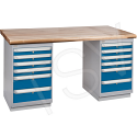 "Pre-designed Workbenches - Capacity: 2500 lbs. - Configuration: Dual Drawers - Height: 34"" - Width: 60"""
