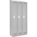 Assembled Clean Line™ Economy Lockers w/Recessed Base & Slope Top - No. of Tiers: 1 - Bank of: 3 - Ships Free