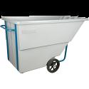 Kleton® Polyethylene Tilt Trucks - Volume Capacity: 1.1 cu.yd. - Durability: Heavy Duty