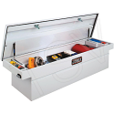 "Crossover Truck Box (Single Lid Box) - Colour: White - Overall Width: 72"" - Overall Depth: 18-7/8"" - Overall Height: 20-1/4"""