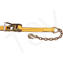 """Ratchet Strap - Type: Chain Anchor - Width: 2"""" - Strap Length: 30' - Working Load Limit: 3335 lbs."""