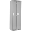 Assembled Clean Line™ Economy Lockers Basic Style - No. of Tiers: 1 - Bank of: 2 - Ships Free