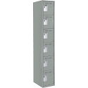 Assembled Lockerette Clean Line™ Economy Lockers - Basic Style - No. of Tiers: 6 - Bank of: 1 - Ships Free