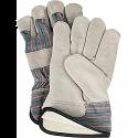 Split Cowhide Fitters Cotton Fleece-Lined Gloves - Size: Large - Case Quantity: 36