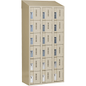 All-Welded Concord™ Heavy-Duty Lockers - Bank of 3 - Colour: Beige