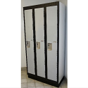 "Premium Single Tier Lockers c/w Optional 4"" 16 Gauge Recessed Metal Base"