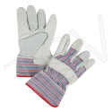 Split Cowhide Fitters, Superior Quality Gloves - Size: Ladies - Rubberized Cuff - Case Quantity: 72