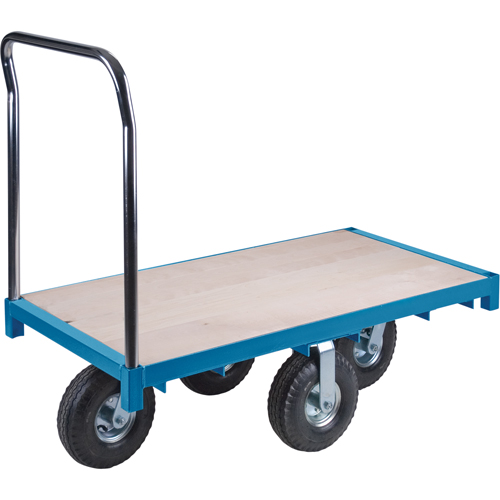 "Wood Deck - 10"" Full Pneumatic Casters, 1200 LBS Capacity"